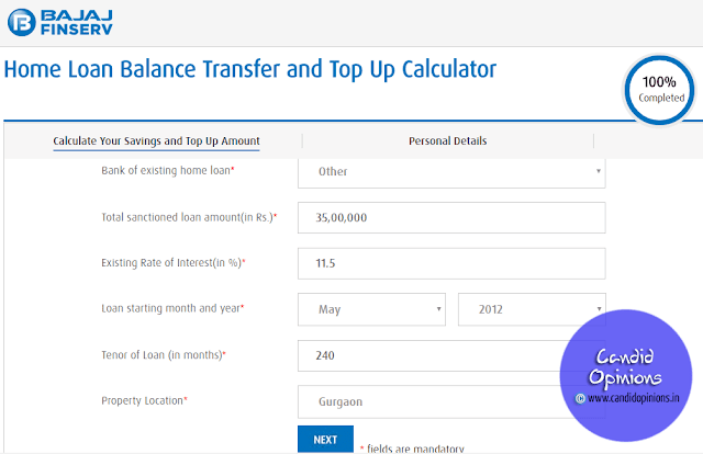 Calculate your savings with Bajaj Finserv's Home Loan Balance Transfer