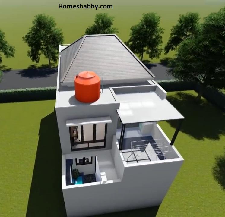 Desain Dan Denah Rumah Minimalis Ukuran 6 X 15 M 2 Lantai Dengan Kolam Ikan Dan Rooftop Jemur Homeshabby Com Design Home Plans Home Decorating And Interior Design