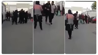 بالفيديو الاعتداء بالعنف و ضرب و شتم على اعوان الحماية المدينة من قبل اعوان الحراسة لمستشفى شارل نيكول
