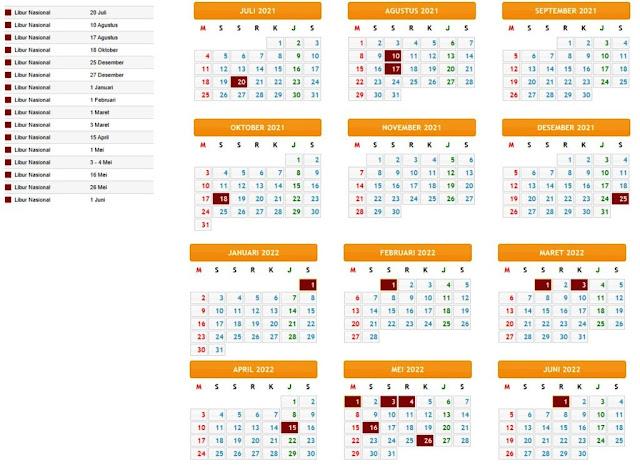 Terbaru Kalender Pendidikan Tahun Pelajaran 2021/2022 Provinsi Banten