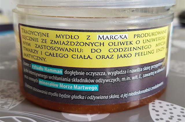 White flowers savon noir czarne mydło z dodatkiem minerałów morza martwego i olejem z oliwek