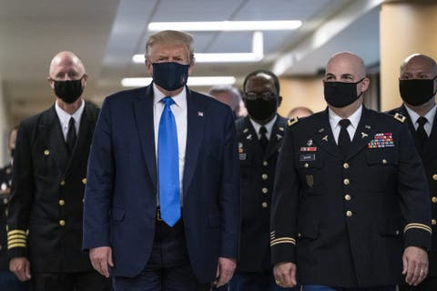 COVID-19: Trump wears mask in public for first time #Arewapublisize
