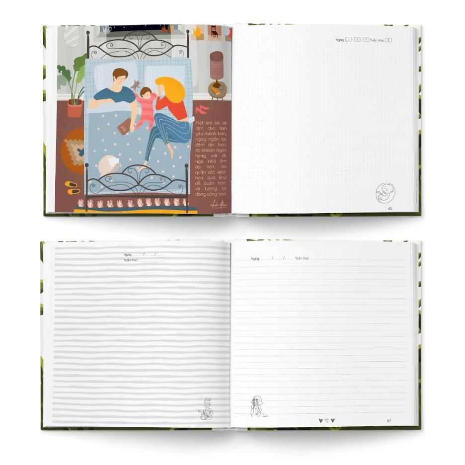 [A116] Sách tô màu cho Bà Bầu tháng 3