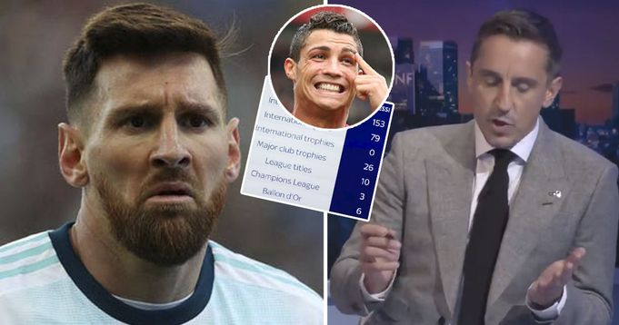Sky Sports publicise fake Messi stats compares him to CR7