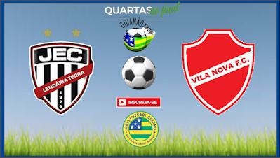 Em grande fase, Vila Nova enfrenta o Jaraguá buscando uma vaga nas semifinais do Goianão
