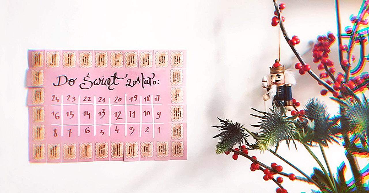 kalendarz adwentowy INSTANT - za darmo do wydruku