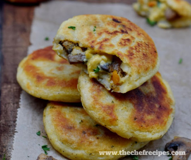 Stuffed Potato Cakes