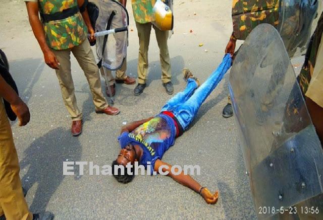 பலியான காளியப்பன் உடலிடம் பேசிய போலீஸார் | The victim was a policeman who spoke to the victim !