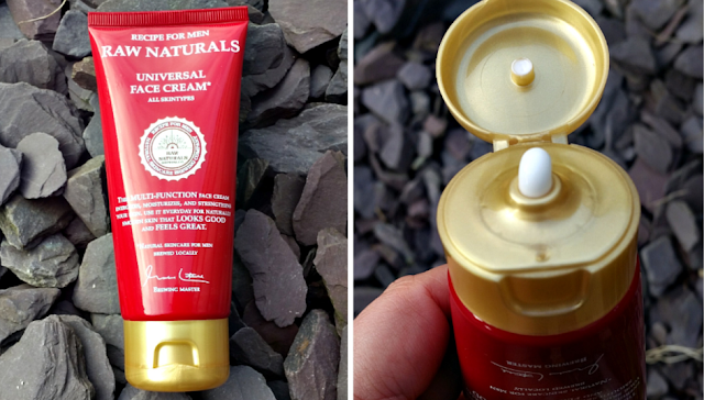 The tube of Raw Naturals Universal Face Cream