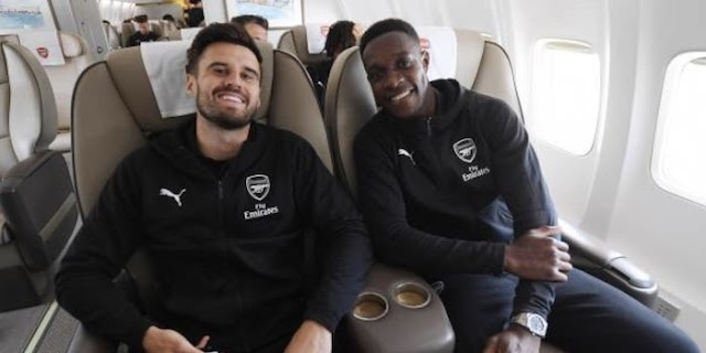 Pics: Long-Term Arsenal Absentee Makes It to Baku