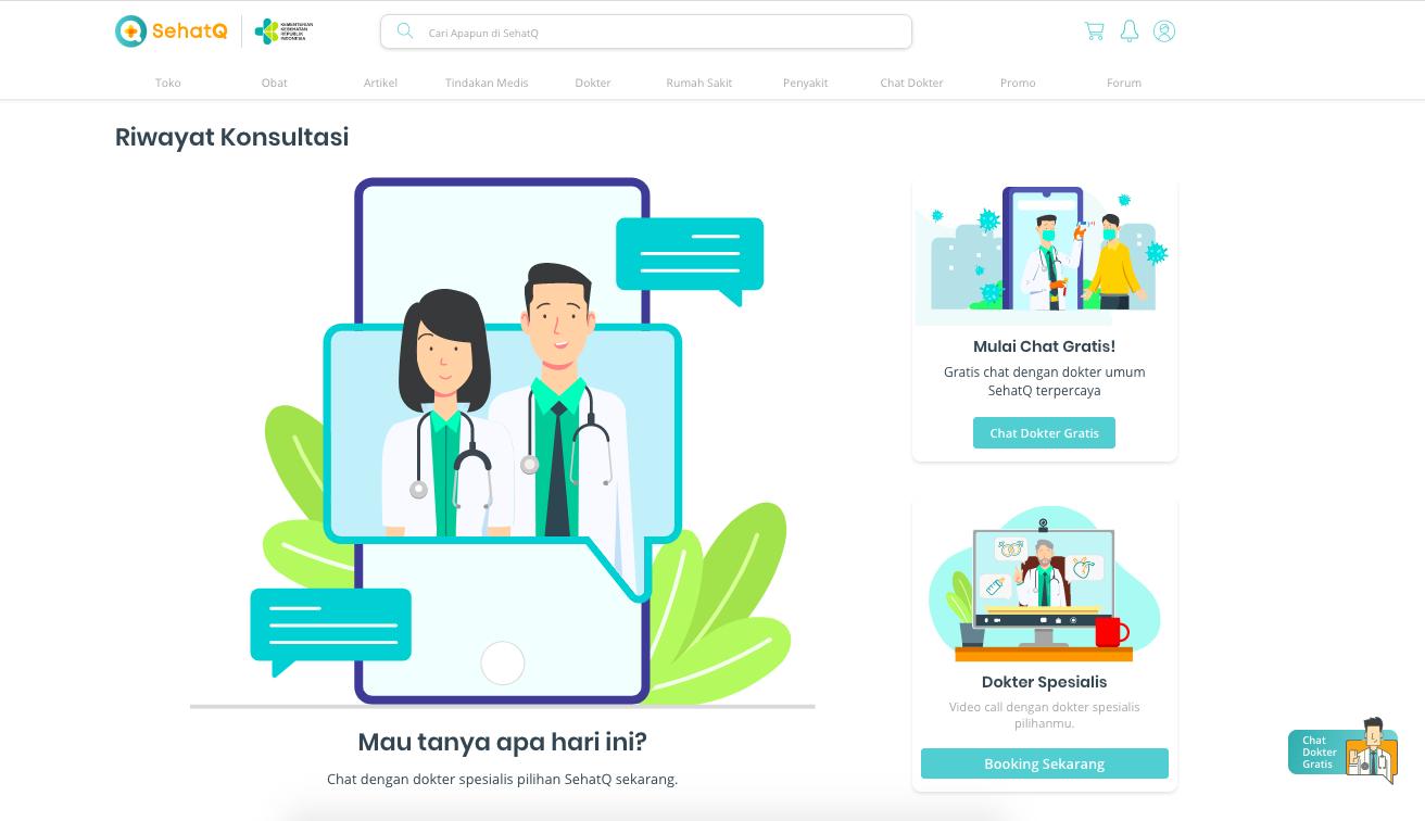konsultasi kesehatan via chat