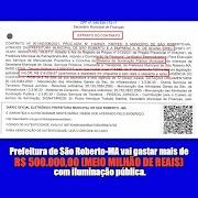 Prefeitura de São Roberto gastará mais de R$ 500.000 com iluminação pública