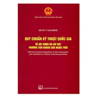QCVN 17 : 2018/BXD Quy Chuẩn Kỹ Thuật Quốc Gia Về Xây Dựng Và Lắp Đặt Phương Tiện Quảng Cáo Ngoài Trời ebook PDF-EPUB-AWZ3-PRC-MOBI