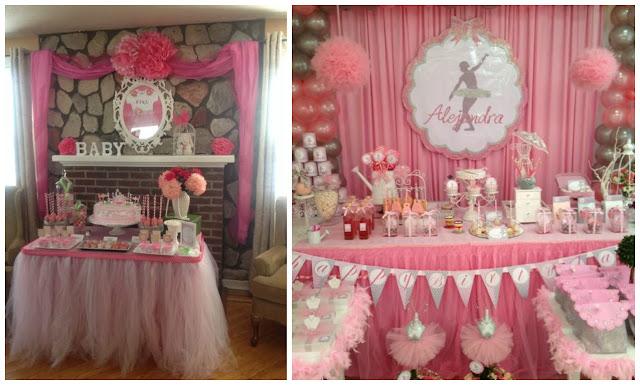15 ideas para decorar mesas de dulces con tul mimundomanual for Como decorar mesa de postres para baby shower