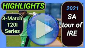 Ireland vs South Africa T20I Series 2021