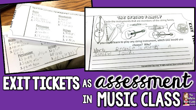 How on earth can you effectively do formative assessment on hundreds of students a week in music class?  EXIT TICKETS are the answer!  Use them for any skill you are working on.  Tried and tested tips and tricks are discussed in this blog post.