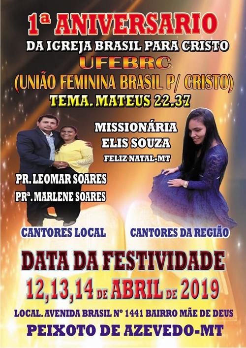 Igreja Brasil para Cristo UFEBRC-MT