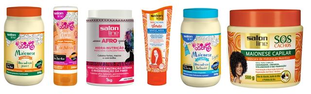 Máscaras/cremes de nutrição Salon Line
