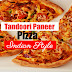 Tandoori paneer pizza/ Indian style paneer pizza