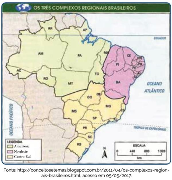 Os Três complexos regionais brasileiros