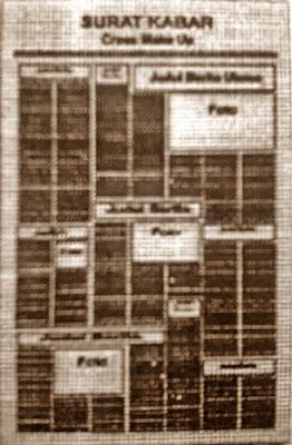 Format Perwajahan dalam Surat Kabar, reka bentuk surat kabar, jurnal rozak, cross make up