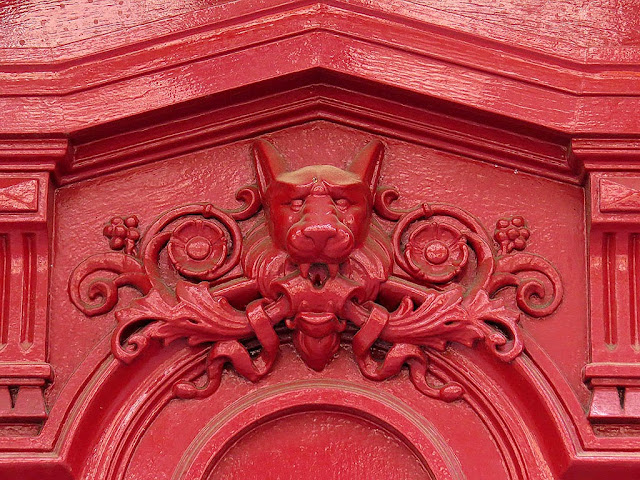 Detail of a front door decoration, Rue Condorcet, Paris
