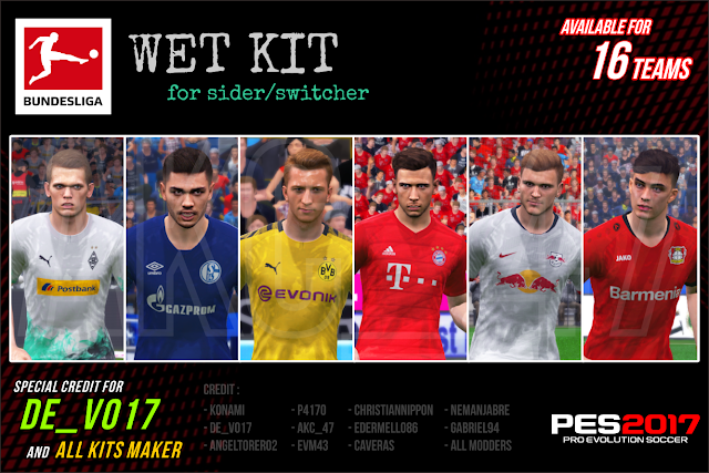 PES 2017 - Bundesliga Wet Kits 2019/2020