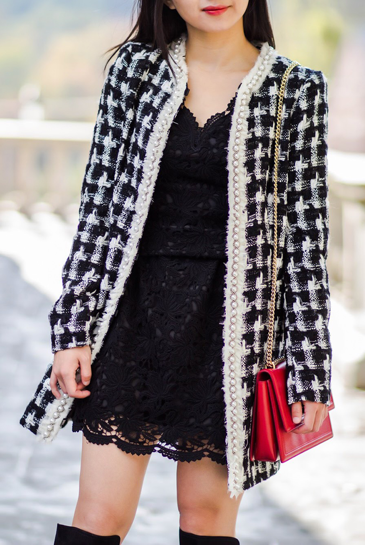Alice + Olivia Tweed Jacket