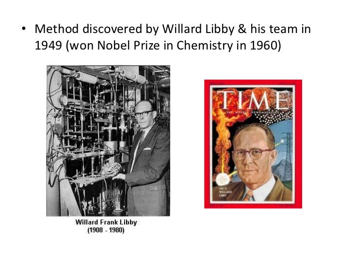 Willard f libby radiocarbon dating