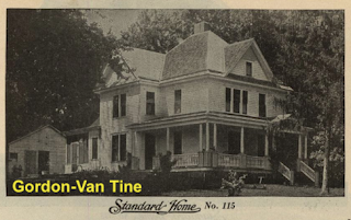 black and white image of a Gordon-Van Tine Standard cut Home No. 115, from the 1916 Standard Homes catalog