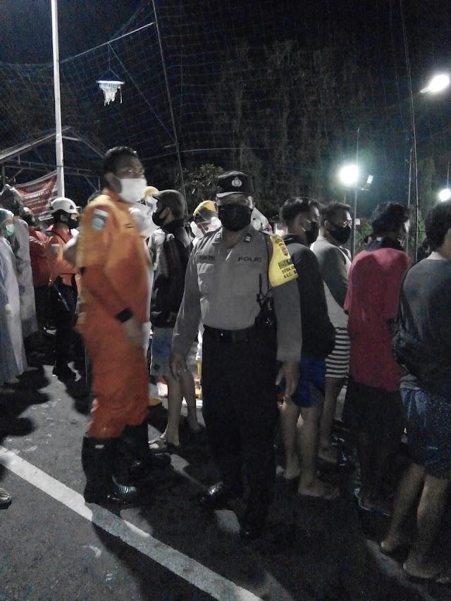 Hanyut Kesungai,Pengendara Sepeda motor Ditemukan tewas 100 m Dari TKP.