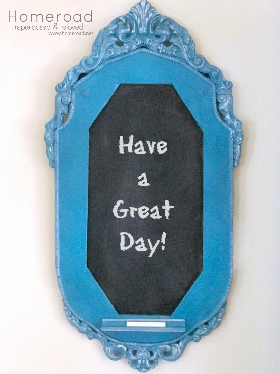 Creating a chalkboard from an antique frame