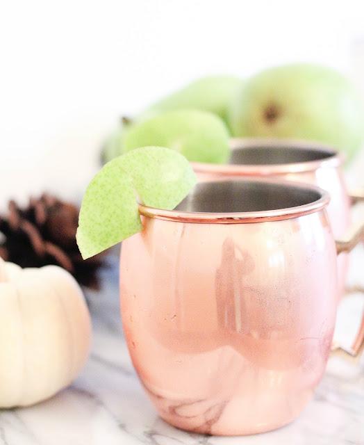 Spiced Pear Gin Mule