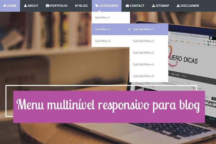 Menu multinível responsivo para blogger