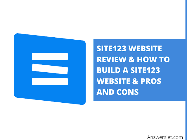 Site123 Review: Pricing, Pros&Cons and How to create website with site123