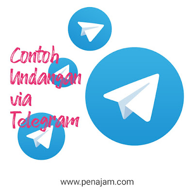 Contoh Undangan Makan Via Telegram, Telegram Grup, makan siang, makan malam, syukuran, sarapan pagi via whatsapp.