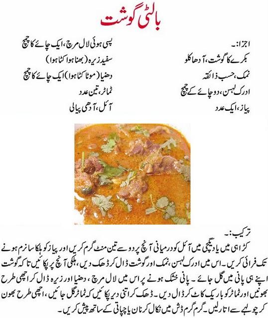 Spicy Food Recipes In Urdu