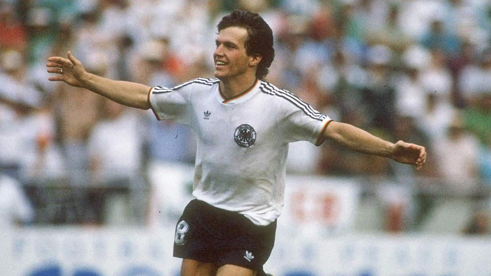 Lothar Matthäus completou 150 jogos pela Seleção Alemã e é o recordista no quesito