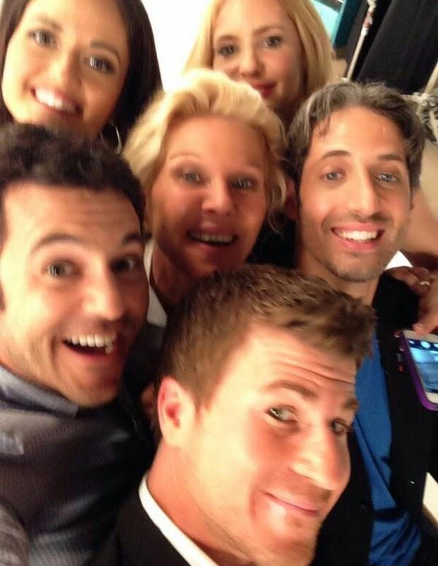 Selfie dos atores de Anos Incríveis
