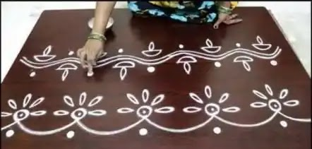 easy border rangoli design kolam