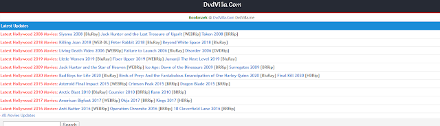 Dvdvilla 2020 : Download And Watch Latest Hollywood Movies