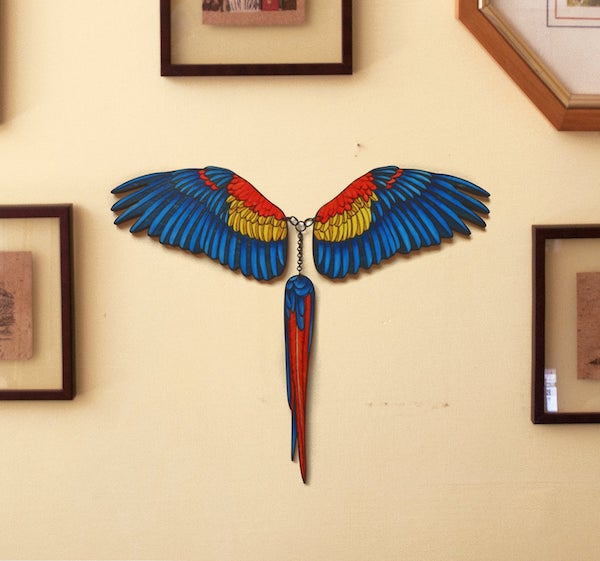 scarlet%2Bmacaw%2Bwall%2Bdecor