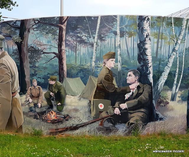 harcerska poczta polowa Jarosław Fabiś murale warszawskie Bielany Żoliborz streetart graffiti