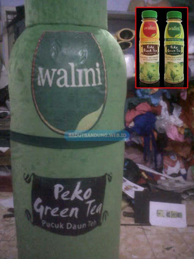 Desain Badut Green Tea Maskot Walini