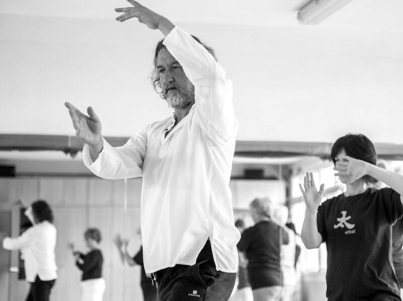 Luis Miguel Rocha enseñando tai chi