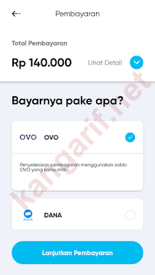 klik lanjutkan pembayaran