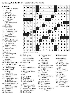 The New York Times Crossword in Gothic: 03.13.13 — Opera