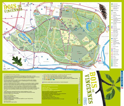 Plan Bois de Vincennes Paris