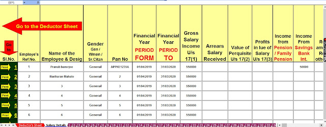 Income Tax Revised Form 16 in Excel Format