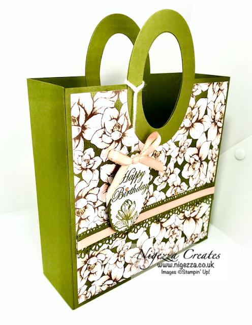 Nigezza Creates with Stampin' Up! Magnolia Lane Gift Bag